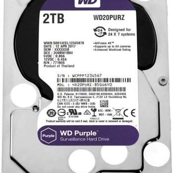 "Western Digital Purple 3.5"" 2000 GB SATA III HDD"