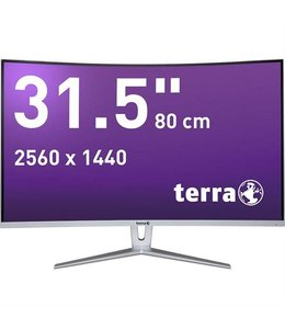 Terra LCD/LED 3280W silver/white CURVED DP/HDMI / 31,5""