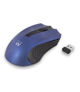 Ewent EW3228 RF Draadloos Optisch 1000DPI Ambidextrous Zwart, Blauw muis