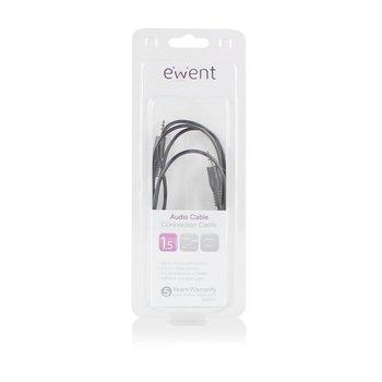 Ewent EW9231 1.5m 3.5mm 3.5mm Zwart audio kabel