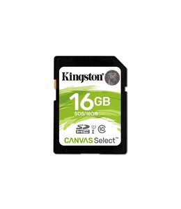 Kingston Technology Canvas Select 16GB SDHC UHS-I Klasse 10 flashgeheugen