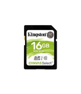 Kingston Technology Canvas Select flashgeheugen 16 GB SDHC Klasse 10 UHS-I