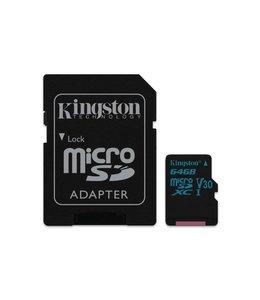 Kingston Technology Canvas Go! 64GB MicroSDXC UHS-I Klasse 10 flashgeheugen