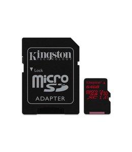 Kingston Technology Canvas React 64GB MicroSDXC UHS-I Klasse 10 flashgeheugen