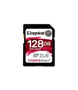 Kingston Technology SD Canvas React 128GB SDXC UHS-I Klasse 10 flashgeheugen