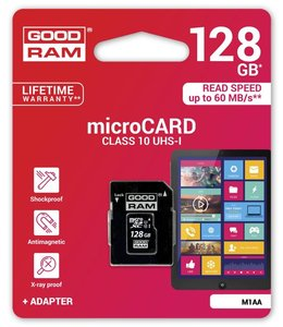 Goodram 128GB Micro SDXC 128GB MicroSDXC UHS-I Klasse 10 flashgeheugen