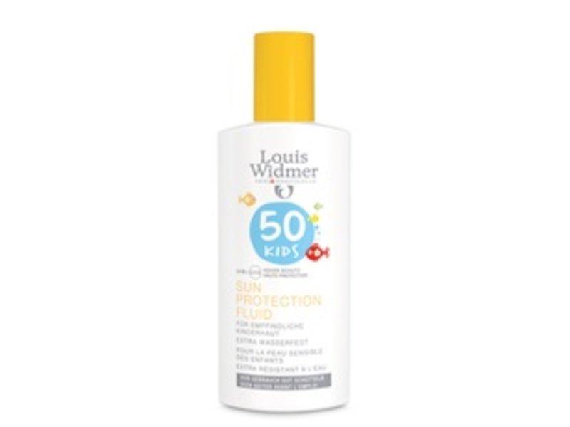 Louis Widmer Louis Widmer zonnenbrand (fluid) kids factor 50 ongepafumeerd