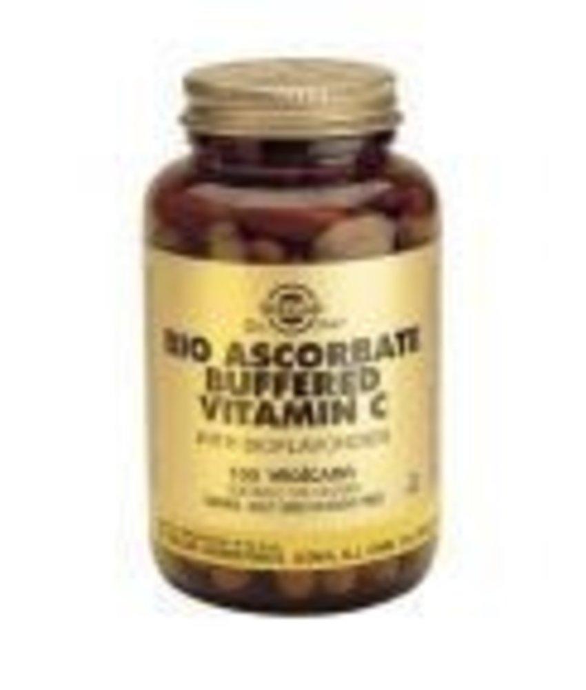 Solgar Solgar Bio Ascorbate Buffered Vitamin C Niet-zuur plantaardige capsules