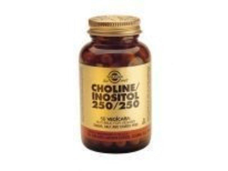 Solgar Solgar Choline/Inositol 250/250 plantaardige capsules