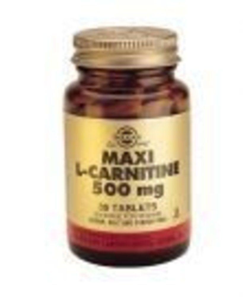 Solgar Solgar Maxi L-Carnitine 500 mg tabletten