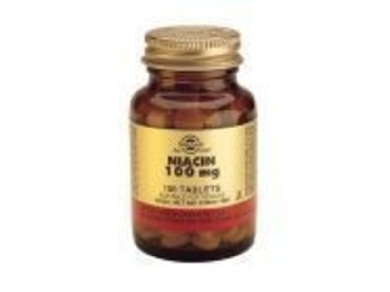 Solgar Solgar Niacin 100 mg Vitamine B-3 tabletten