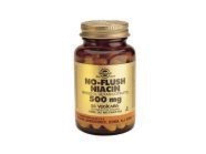Solgar Solgar No-Flush Niacin 500 mg Vitamine B-3 plantaardige capsules