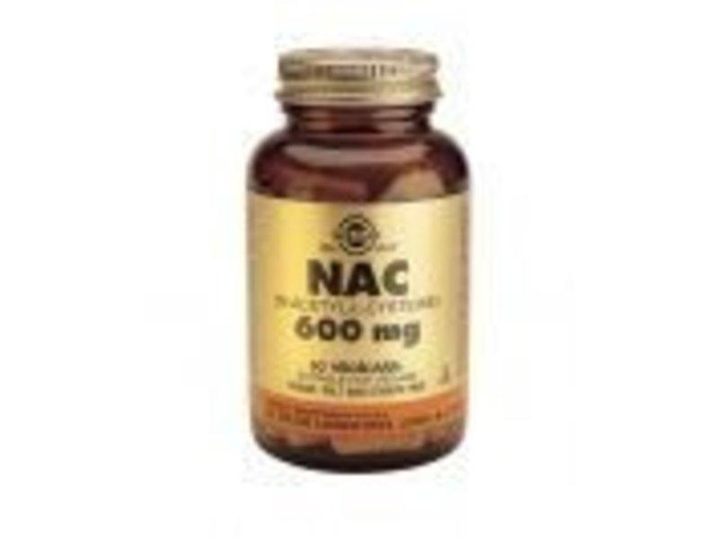 Solgar Solgar NAC 600 mg N-Acetyl-L-CysteÌøne plantaardige capsules