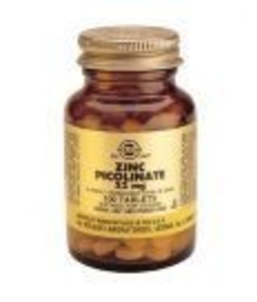 Solgar Solgar Zinc Picolinate 22 mg tabletten