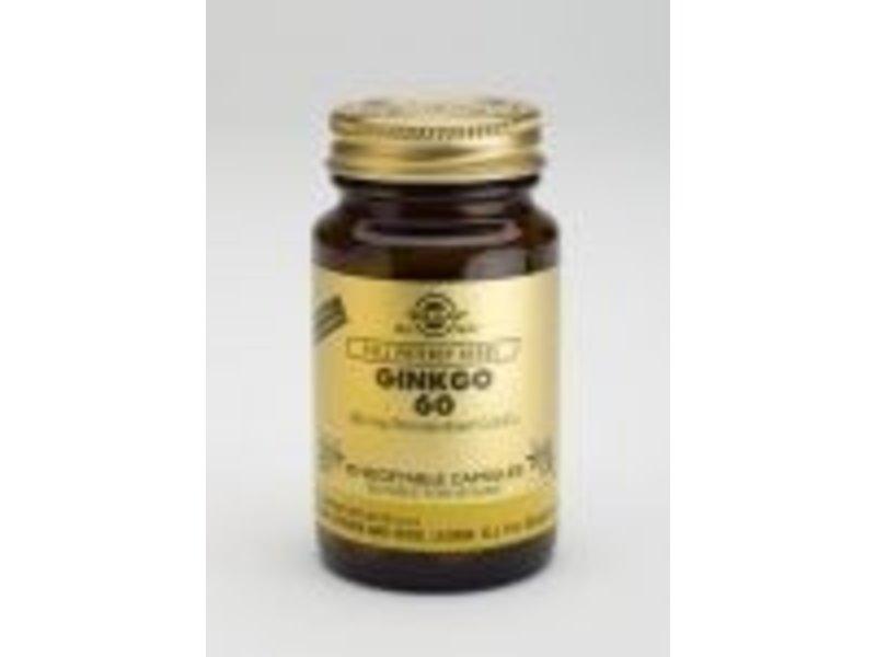Solgar Solgar Ginkgo 60 mg plantaardige capsules