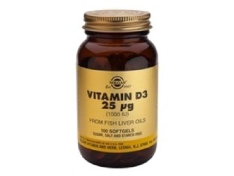 Solgar Solgar Vitamine D3 25 UG From Fish Livver Oils
