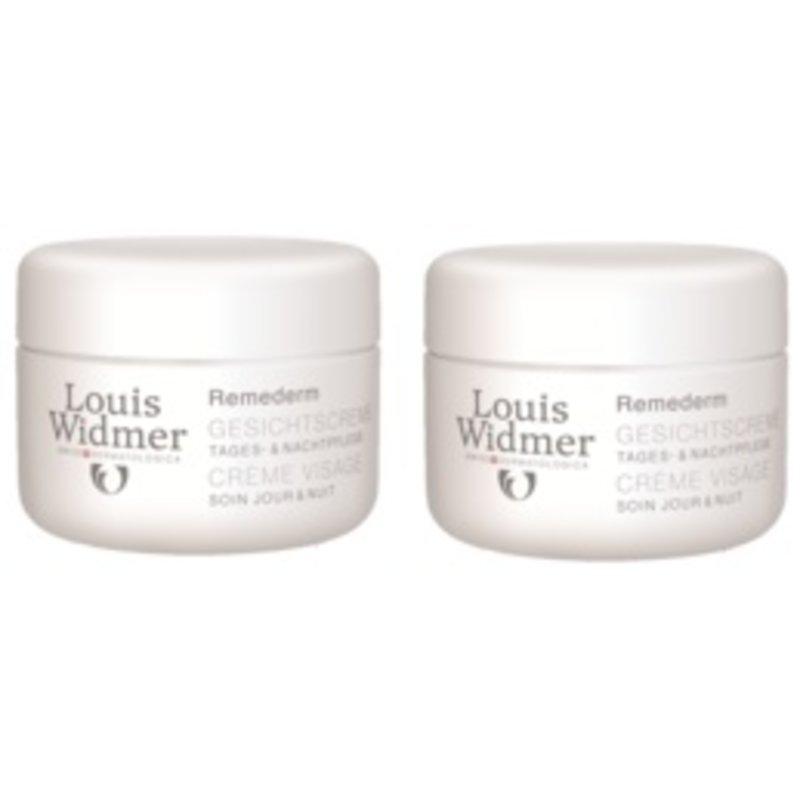 Louis Widmer Remederm gezichtscreme licht geparfumeerd Duoverpakking