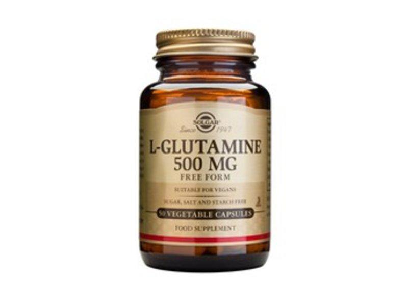 Solgar L-Glutamine 500 mg plantaardige capsules