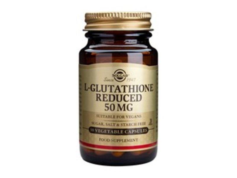 Solgar L-Glutathione reduced 50 mg plantaardige capsules