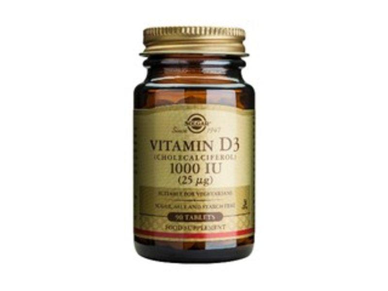Solgar Vitamin D-3 25 µg/1000 IU tablet