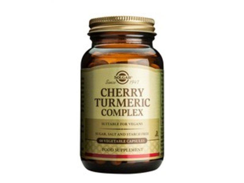 Solgar Cherry Turmeric Complex / geelwortel plantaardige capsules