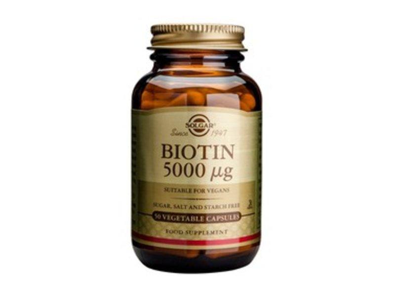 Solgar Biotin 5000 µg plantaardige capsules