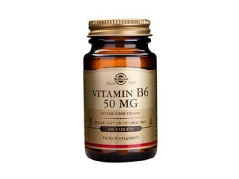 Solgar Vitamin B-6 50 mg tabletten