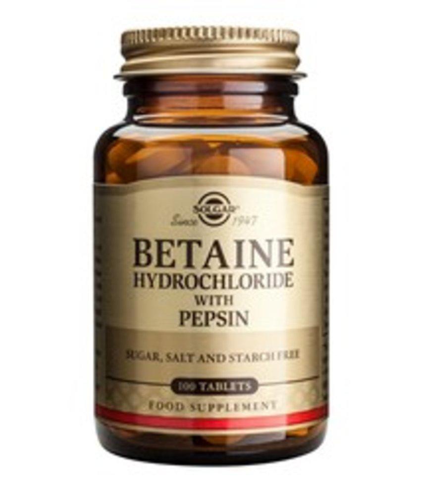Solgar Betaine Hydrochloride with Pepsin tabletten