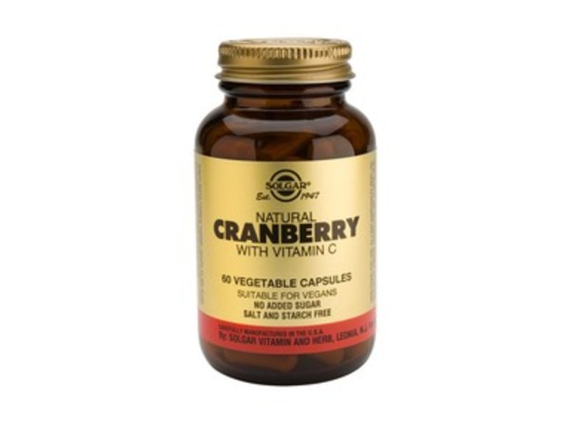 Solgar Cranberry with Vitamin C plantaardige capsules