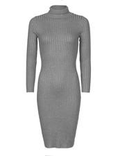 Be a Diva® Dress Uni Col Grey