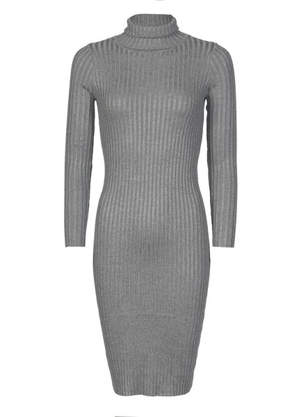 Be a Diva® Dress Uni Col Grey