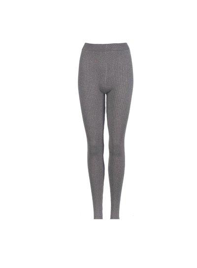 Be a Diva® Legging Rib Uni Grey