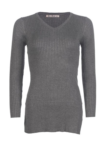 Be a Diva® Top Rib Uni Grey