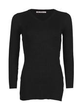 Be a Diva® Top Rib Uni Black
