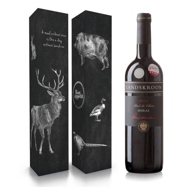 """Fles wijn naar keuze + wijnbox """"a meal without wine"""" prijs vanaf"""