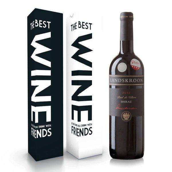 """Fles wijn naar keuze + wijnbox """"the best wine"""" prijs vanaf"""