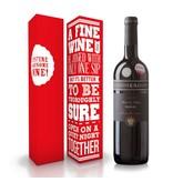 """Fles wijn naar keuze + wijnbox """"A fine wine"""""""