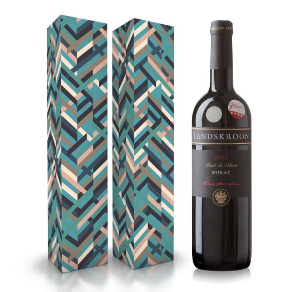 """Fles wijn naar keuze + wijnbox """"Blauw"""" prijs vanaf"""