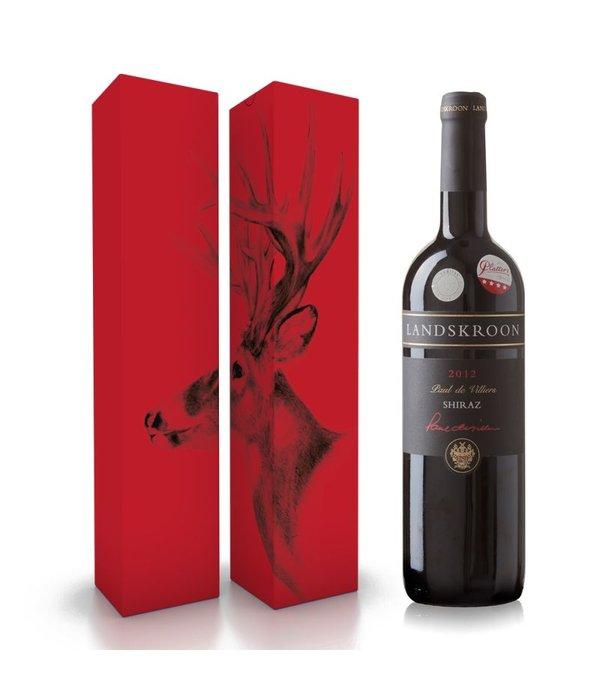 """Fles wijn naar keuze + wijnbox """"rendier"""""""