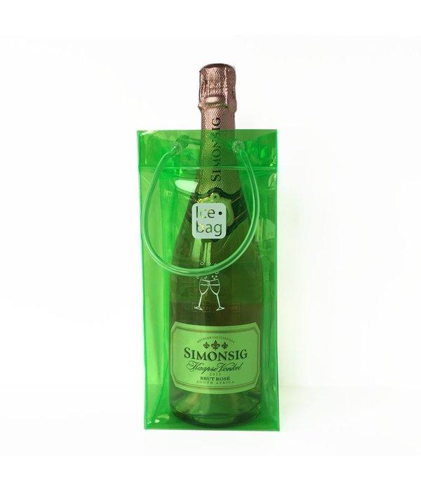 Ice•bag wijnkoeler groen