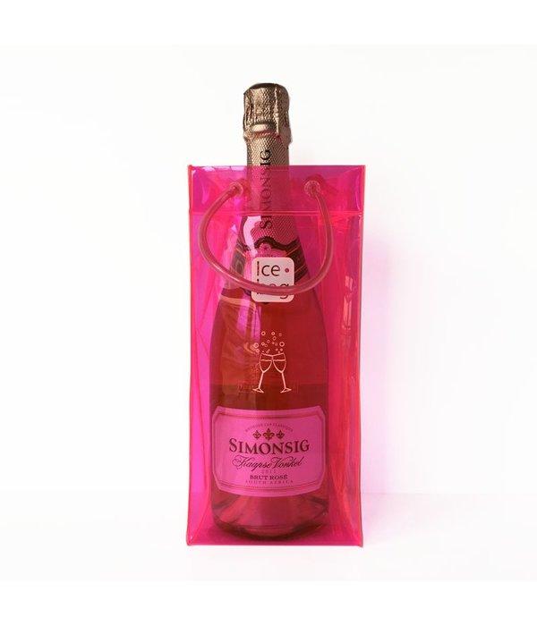 Ice•bag wijnkoeler roze
