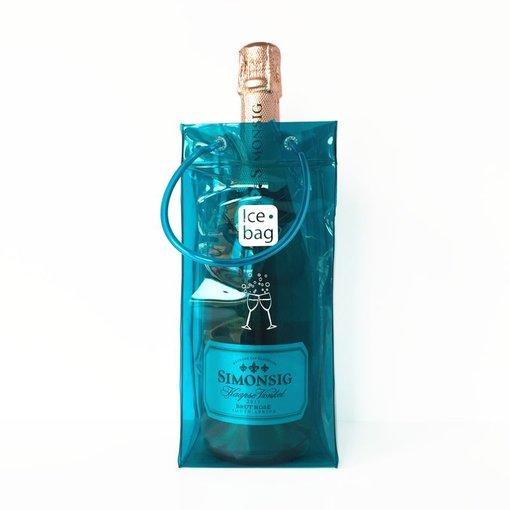 Ice•bag wijnkoeler blauw