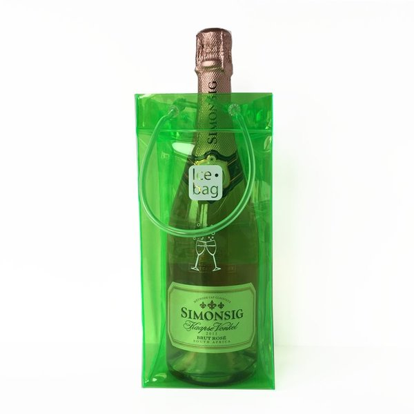 Simonsig Kaapse Vonkel bubbels + icebag wijnkoeler groen