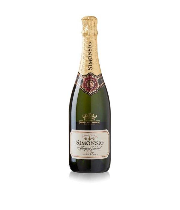Simonsig Kaapse Vonkel bubbels + icebag wijnkoeler paars