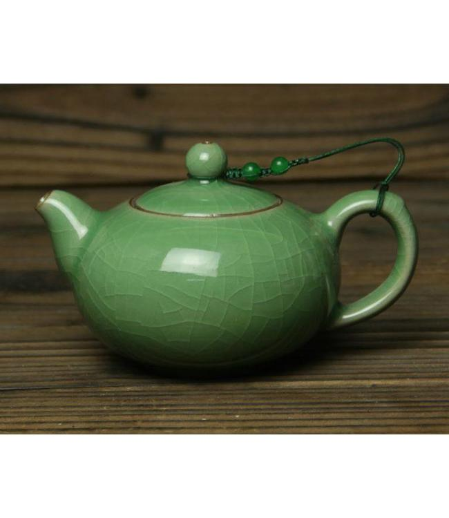 Longquan Celadon Meizi tea pot (200 cc, globe screen)