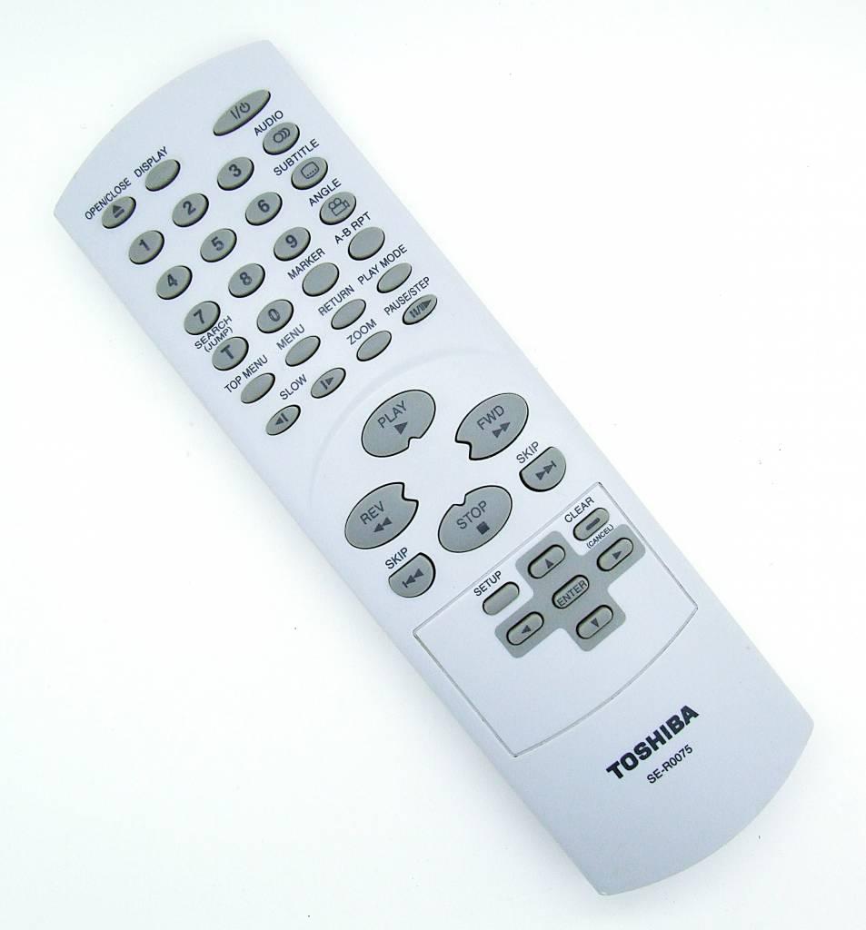 original toshiba fernbedienung se r0075 dvd player. Black Bedroom Furniture Sets. Home Design Ideas