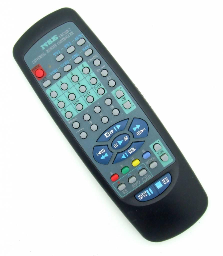 original remote control nse urc22b 7 universal onlineshop for remote controls. Black Bedroom Furniture Sets. Home Design Ideas
