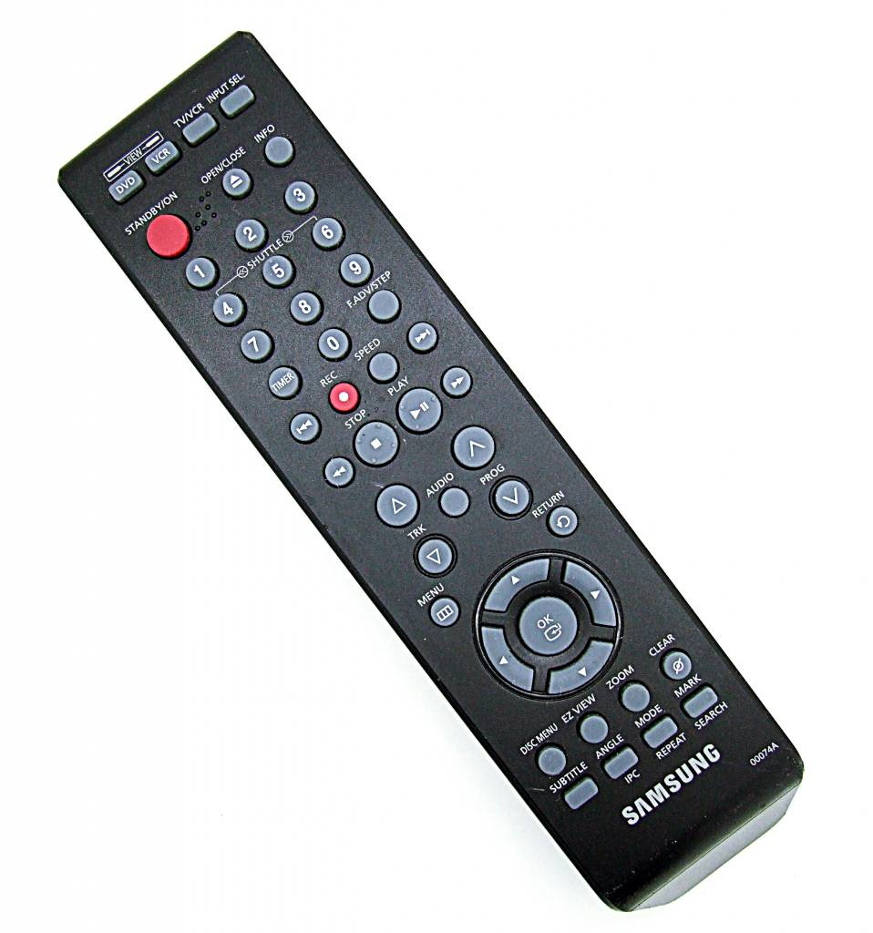 original samsung fernbedienung 00074a dvd vcr tv remote. Black Bedroom Furniture Sets. Home Design Ideas