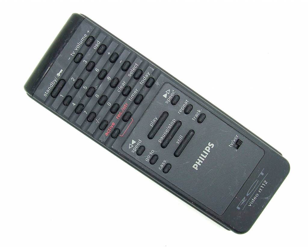 original philips remote control rct video rt112 remote control onlineshop for remote controls. Black Bedroom Furniture Sets. Home Design Ideas