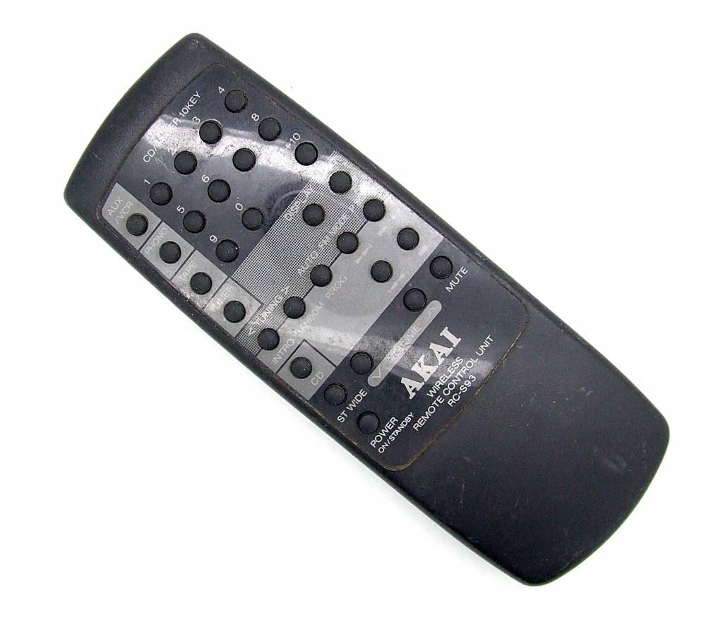 Akai Original Akai Fernbedienung RC-S93 Wireless remote control unit